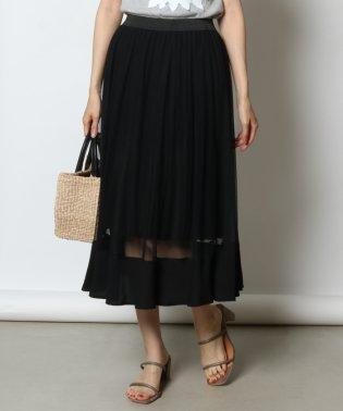 GRANDTABLE(グランターブル) チュール×プリーツスカート