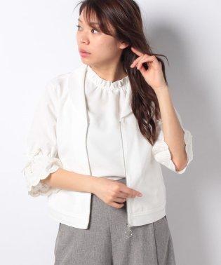 スカラップ刺繍袖ブルゾン