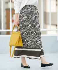 【KBF+】ヴィンテージスカーフプリントラップスカート