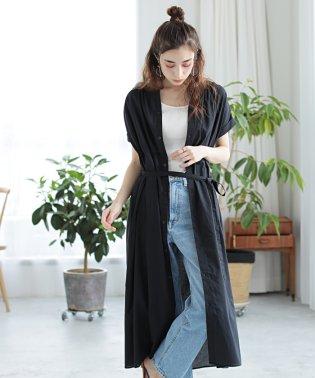 ★【WEB限定】スタンドカラーシャツワンピース