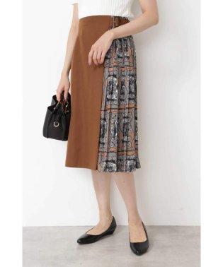 スカーフプリント切替スカート