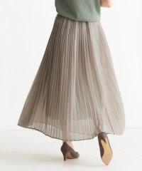シフォンプリーツマキシスカート