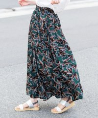 プリント柄フレアマキシスカート