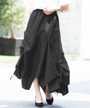 アシンメトリー変形スカート