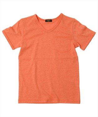 カットオフVネック半袖Tシャツ