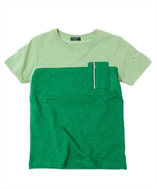 ファスナーポケット切替半袖Tシャツ