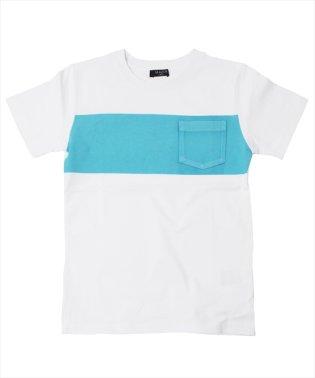 ラインプリントポケット半袖Tシャツ