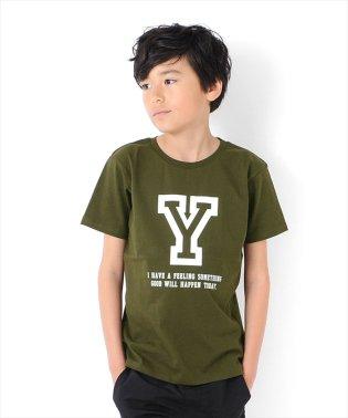 イニシャルプリント半袖Tシャツ