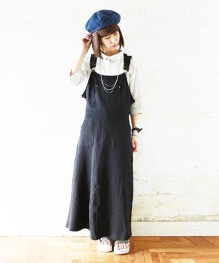 フードデザインマキシスウェットジャンパースカート