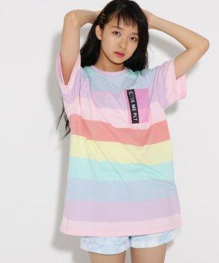 ★ニコラ掲載★レインボーチュニック Tシャツ