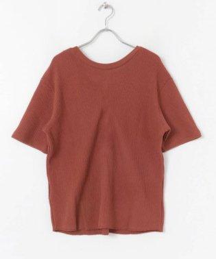 2WAYワッフルビッグTシャツ(半袖)