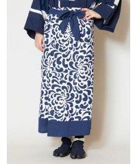 【カヤ】藍色ならいスカート 7IA-9220