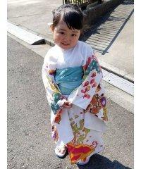 【チャイハネ】紅型風プリントキッズ浴衣110cm IAC-9242