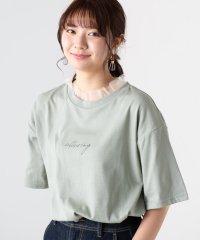 WEGO/チュールフリルロゴTシャツ