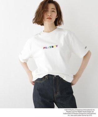 コラボ別注 PLAYBOY プレイボーイ 刺繍 半袖 Tシャツ