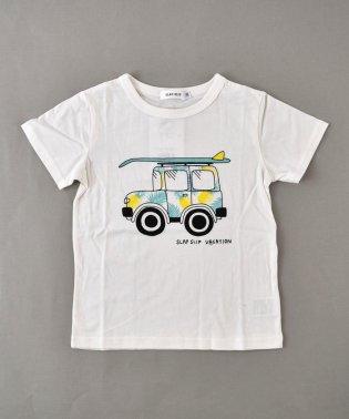 天竺アロハクルマプリントTシャツ