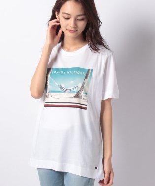 ビーチプリントTシャツ
