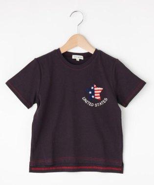 【130-160cm】アメリカンワッペンTシャツ