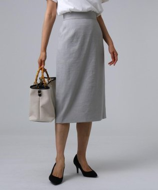 FABRICA 麻ブレンドミモレタイトスカート