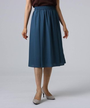 [L]【洗える】ミモレ丈フレアスカート