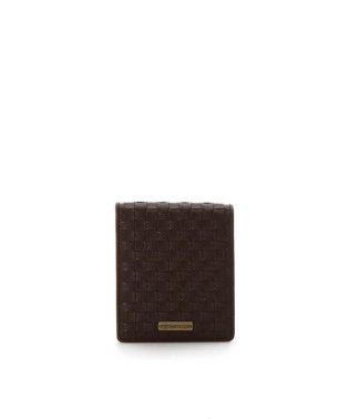 メッシュレザー 折財布