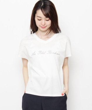 【洗える】ロゴ刺しゅうTシャツ