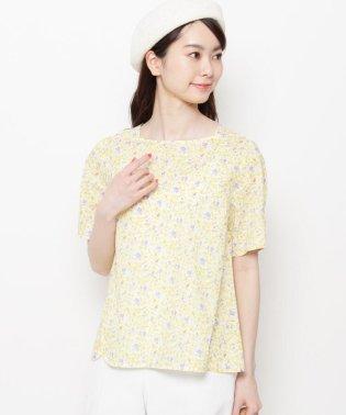 【洗える】リーフプリントシャツ
