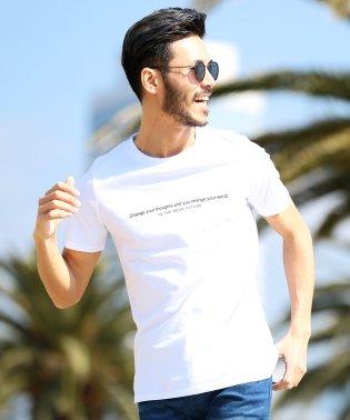 マルチプリントUSAコットン半袖T / Tシャツ メンズ おしゃれ ティーシャツ 半袖 半袖Tシャツ プリント ロゴ