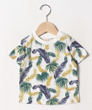 リーフ柄Tシャツ