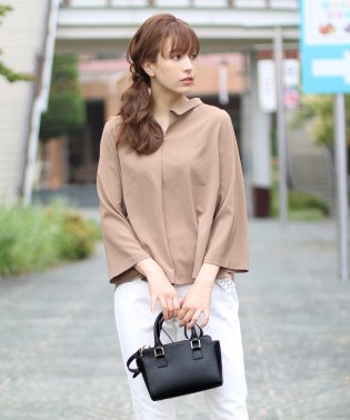 [Mia Borsa]牛床革レザーミニハンドバッグ