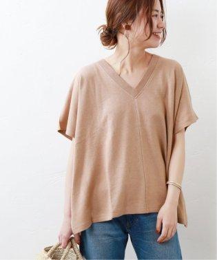 リネン/コットンポンチョTシャツ◆