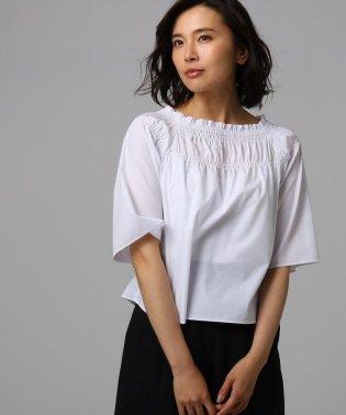 【洗える】シルキーコットン シャーリングシャツ