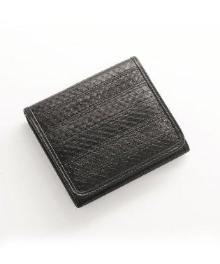 シーパイソンレザー折り財布ボックス型
