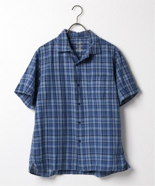 SKU S/S COTTON LINEN MADRAS VACATION SHI