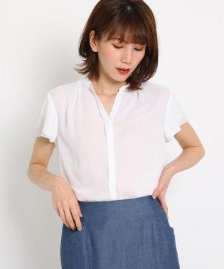 【洗える】ジョーゼットシフォン シアーシャツ