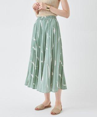 ニュアンス柄プリーツスカート