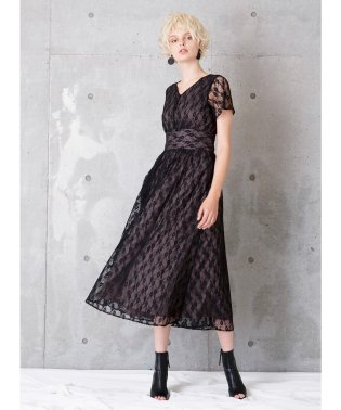 Bicolor Lace Dress