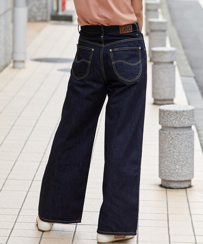 【Lee×ViS】ハイウエストワイドデニム