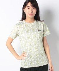 【FILA】PEメッシュリーフ柄Tシャツ