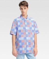 パッチワークショートスリーブシャツ