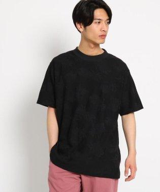 【WEB/一部店舗限定/アロハシャツブランドPINEAPPLE JUICE別注/USAコットン】ジャガード柄Tシャツ
