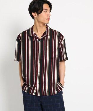 【WEB限定】ビッグシルエットストライプ開襟シャツ/オープンカラーシャツ