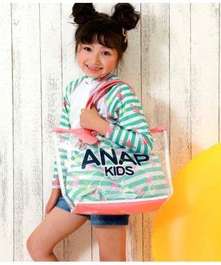 フラミンゴ柄内袋付プールバッグ