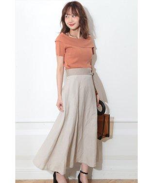 【追加生産】リネン混ロングスカート