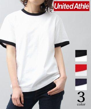 【UnitedAthle/ユナイテッドアスレ】5.6オンスバインダーネックリンガーTシャツ/トリムTシャツ