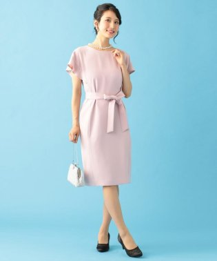 【PRIER】ドロップショルダーフレア袖 ドレス