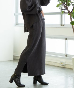 【セットアップ対応】ヘビーワッフルロングスカート