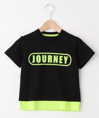 【100~150cm】ネオンカラーレイヤードTシャツ