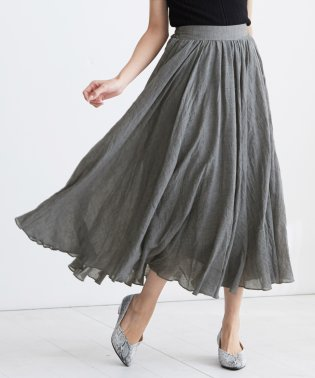 ガーゼふんわりマキシスカート