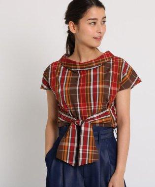 【洗える/2WAY】ウエストリボンロールネックシャツ